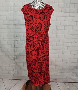 Ashley Stewart sleeveless size 14/16 stretch dress